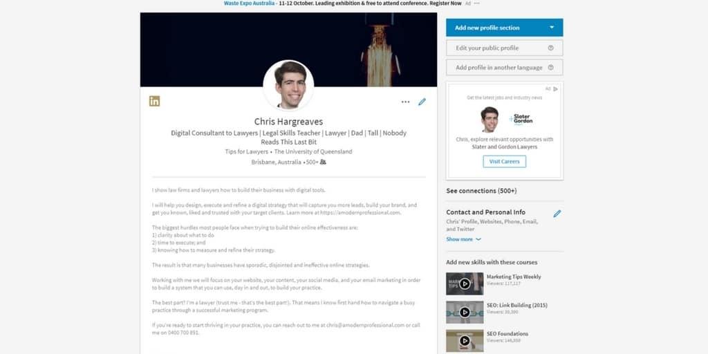 chris hargreaves linkedin profile